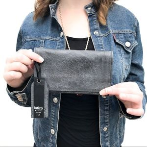 Black Leather Wallet by Latico - NWT